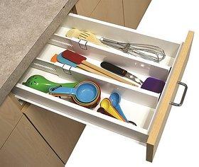 Set Of 2 Snap Fit Drawer Dividers Storage Organizer