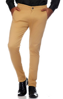 Van Galis Fashion Wear Light Brown Formal Trousers For Men