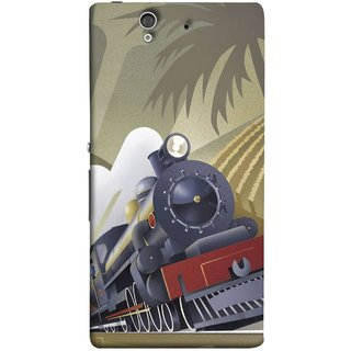 FUSON Designer Back Case Cover For Sony Xperia Z :: Sony Xperia ZC6603 :: Sony Xperia Z L36h C6602 :: Sony Xperia Z LTE, Sony Xperia Z HSPA+ (British Steam Engine Trains Express Mail )