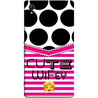 FUSON Designer Back Case Cover For Sony Xperia Z5 Premium :: Sony Xperia Z5 4K Premium Dual (Beautiful Wife Husband Nice Couples Pink Design Paper)