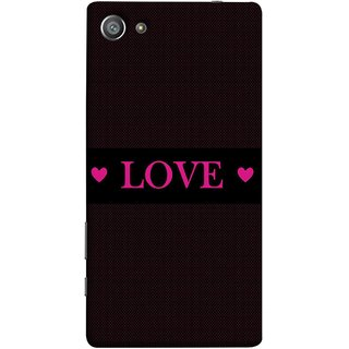 FUSON Designer Back Case Cover For Sony Xperia Z5 Compact :: Sony Xperia Z5 Mini (Best Gift For Valentine Friends Lovers Couples Baby Pink Red )