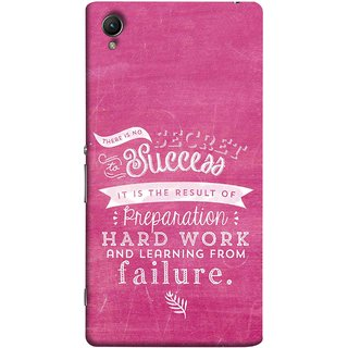 FUSON Designer Back Case Cover For Sony Xperia Z5 Premium :: Sony Xperia Z5 4K Premium Dual (Result Of Preparation Hard Work Learning From Failure)