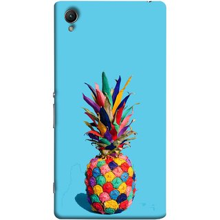 FUSON Designer Back Case Cover For Sony Xperia Z5 Premium :: Sony Xperia Z5 4K Premium Dual (Light Bright Cream Pineapple Lamp Ananas Pineapple Skin)