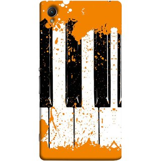 FUSON Designer Back Case Cover For Sony Xperia Z5 Premium :: Sony Xperia Z5 4K Premium Dual (Black And White Colour Splash Droplets Music )