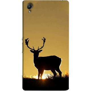 FUSON Designer Back Case Cover For Sony Xperia Z5 :: Sony Xperia Z5 Dual 23MP (Adult Alone Animals Very Big Horns Looking Back)