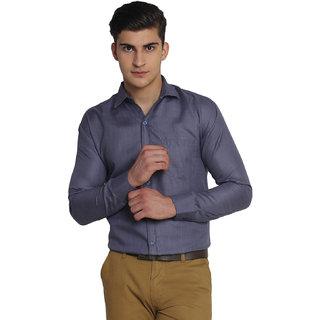 Van Galis Fashion Wear Blue Formal Shirt For Men