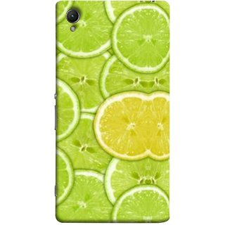 FUSON Designer Back Case Cover For Sony Xperia Z5 :: Sony Xperia Z5 Dual 23MP (Lemon Lime Sweet Agriculture Farm Fresh Cut Cell)