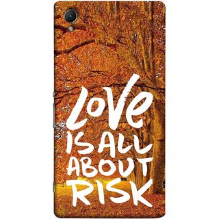 FUSON Designer Back Case Cover For Sony Xperia Z5 Premium :: Sony Xperia Z5 4K Premium Dual (Trees Prem Pyar To Badi Risk Hai Very Dangerous )