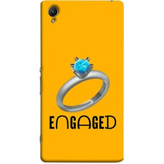 FUSON Designer Back Case Cover For Sony Xperia Z5 :: Sony Xperia Z5 Dual 23MP (Couple Marriage Engegement Ring With Beautiful Diamond)