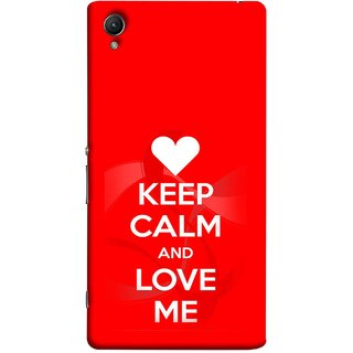 FUSON Designer Back Case Cover For Sony Xperia Z5 :: Sony Xperia Z5 Dual 23MP (Beautiful Hearts Always Stay Silent And Love Other Work Resolve)