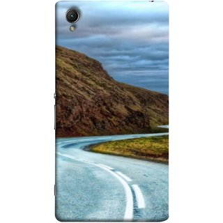 FUSON Designer Back Case Cover For Sony Xperia Z5 :: Sony Xperia Z5 Dual 23MP (Scenic Road And Beautiful Mountains Highway Nature)