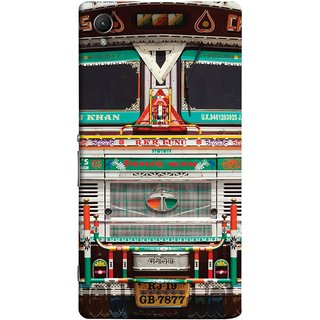 FUSON Designer Back Case Cover For Sony Xperia Z5 Premium :: Sony Xperia Z5 4K Premium Dual (India Goods Lorry Decorated Indian Tata Truck)