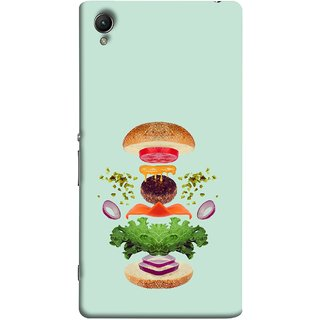 FUSON Designer Back Case Cover For Sony Xperia Z5 :: Sony Xperia Z5 Dual 23MP (Flying Burger Ingredients Onion Cheese Tomatos )