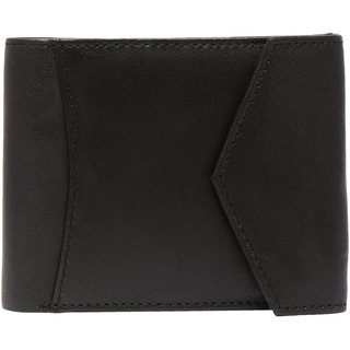 Black Mens Bifold Wallet Purse Formal Casual PU Leather Wallets Credit Card Holder