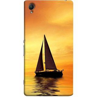 FUSON Designer Back Case Cover For Sony Xperia Z5 :: Sony Xperia Z5 Dual 23MP (Sailing Ships Sailboats Ocean Pond Sea River)