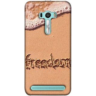 FUSON Designer Back Case Cover For Asus Zenfone 2 Laser ZE601KL (6 Inches) (Writing In Sand Fuzzy Water Handwritten Best Designn)