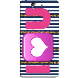 FUSON Designer Back Case Cover For Sony Xperia Z :: Sony Xperia ZC6603 :: Sony Xperia Z L36h C6602 :: Sony Xperia Z LTE, Sony Xperia Z HSPA+ (I Love Prem Pyar Lovers Pink Red Hearts Horizontal)