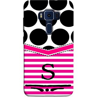 FUSON Designer Back Case Cover For Asus Zenfone 3 Deluxe ZS570KL (5.7 Inches) (Beautiful Cute Nice Couples Pink Design Paper Girly S)