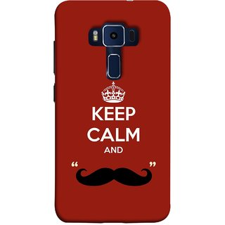 FUSON Designer Back Case Cover For Asus Zenfone 3 Deluxe ZS570KL (5.7 Inches) (Beautiful Mustache Always Stay Silent Work Resolve)
