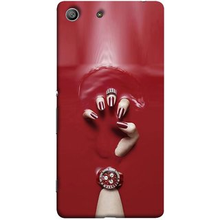 FUSON Designer Back Case Cover For Sony Xperia Z3 :: Sony Xperia Z3 Dual D6603 :: Sony Xperia Z3 D6633 (Lady Hand With Maroon Watch Nail Polish )