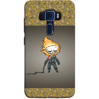 FUSON Designer Back Case Cover For Asus Zenfone 3 Laser ZC551KL (5.5 Inches) (Chain Chronicle Weeping Fire Sprite Background)