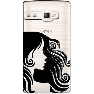 Snooky Printed Hair Mobile Back Cover of Intex Aqua 3G Strong - Multicolour