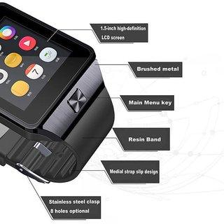 Limited Edition GT08 Pro NFC GSM Memory Card Bluetooth Smart Watch Hidden Camera -Steel Black