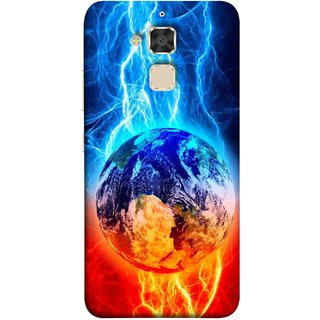 FUSON Designer Back Case Cover For Asus Zenfone 3 Max ZC520TL (5.2 Inches) (Lightning On Globe Earth Space Beautiful Picture )