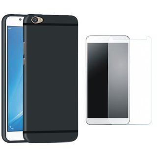 Motorola Moto E4 Stylish Back Cover with Tempered Glass