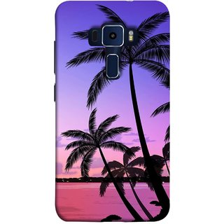 FUSON Designer Back Case Cover For Asus Zenfone 3 Laser ZC551KL (5.5 Inches) ( Twilight On The Beach Coconuts Goa Beach Holidays )