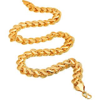 bfebaef0a6ac3 Fashion Frill Lotus Design Double Coated Designer Fancy Daily Wear Gold  Plated Metal Neck Chain For Men Boys(FF319)