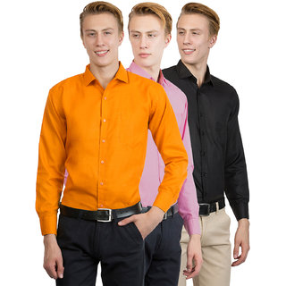 Van Galis Men's Multi Color regular Formal Shirt