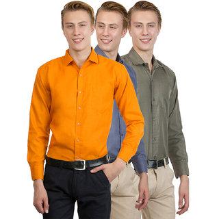 Van Galis Men's Multi Color regular Formal Shirt