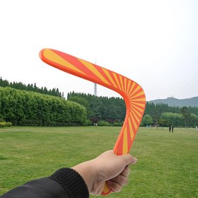 Aeoss V Shaped Boomerang Frisbee Kids Wooden Toy Outdoor Game