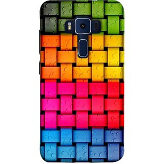 FUSON Designer Back Case Cover For Asus Zenfone 3 Deluxe ZS570KL (5.7 Inches) (Bright And Beautiful Colour Strips And Band Glossy)