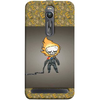 FUSON Designer Back Case Cover For Asus Zenfone 2 ZE551ML (Chain Chronicle Weeping Fire Sprite Background)