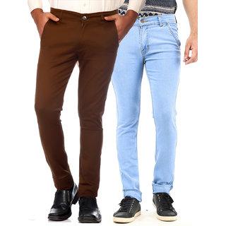 Van Galis  Men's Multi Color Regular Fit Jeans Pack of 2