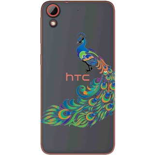 Snooky Printed Peacock Mobile Back Cover of HTC Desire 628 - Multicolour