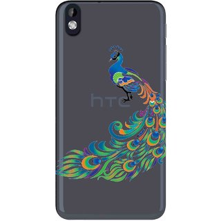 Snooky Printed Peacock Mobile Back Cover of HTC Desire 816 - Multicolour