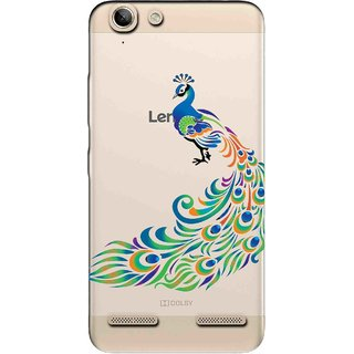 Snooky Printed Peacock Mobile Back Cover of Lenovo Vibe K5 Plus - Multicolour
