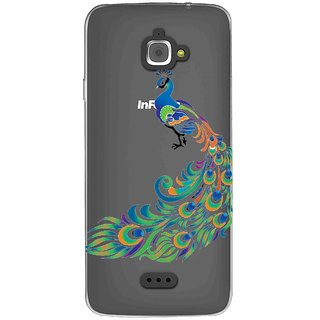 Snooky Printed Peacock Mobile Back Cover of InFocus M350 - Multicolour