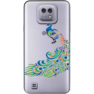 Snooky Printed Peacock Mobile Back Cover of LG X cam - Multicolour