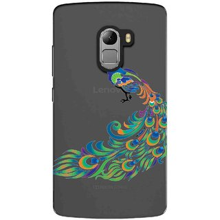 Snooky Printed Peacock Mobile Back Cover of Lenovo K4 Note - Multicolour