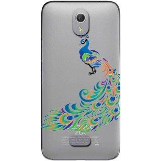 Snooky Printed Peacock Mobile Back Cover of Lenovo Zuk Z1 - Multicolour