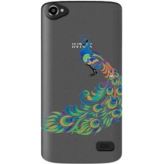 Snooky Printed Peacock Mobile Back Cover of Intex Aqua Star 2 HD - Multicolour