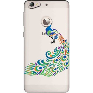 Snooky Printed Peacock Mobile Back Cover of Letv Le 1S - Multicolour
