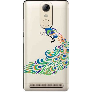 Snooky Printed Peacock Mobile Back Cover of Lenovo Vibe K5 Note - Multicolour