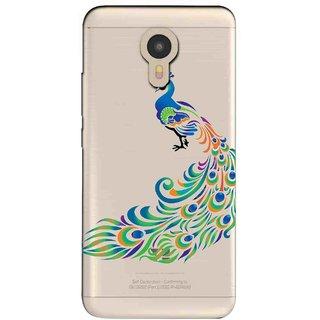 Snooky Printed Peacock Mobile Back Cover of Micromax YU Yunicorn - Multicolour