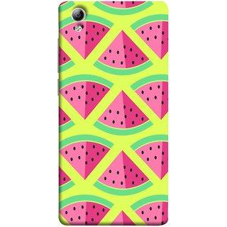 FUSON Designer Back Case Cover For Vivo Y51 :: Vivo Y51L (Watermelon Slice Pattern Of Ripe Handdrawing )