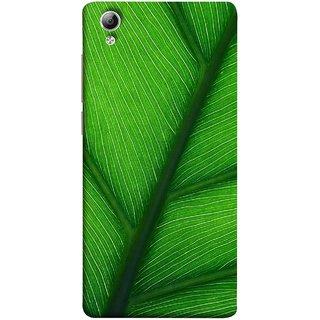 FUSON Designer Back Case Cover For Vivo Y51 :: Vivo Y51L (Bright Green Leaf Of Tree Full Of Life Network Of Veins)